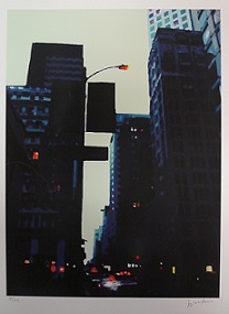 """Downtown at Dusk"", by Debra Walker.  Retail price: $150. Minimum bid:$50."
