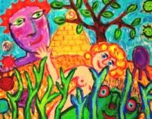 """Purple Head with Pyramid"", by Nancy Reese. Retail value: $85. Minimum bid: $30."