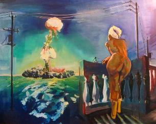 """The Bomb"", by Carina Lomeli.  Retail price: $80. Minimum bid: $40."